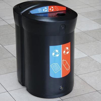 Envoy Duo™ 110L Recycling-Behälter
